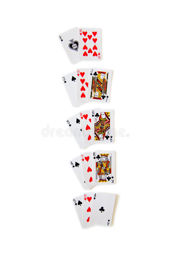 Gewinnende Kombinationen im Blackjack lizenzfreie stockfotos