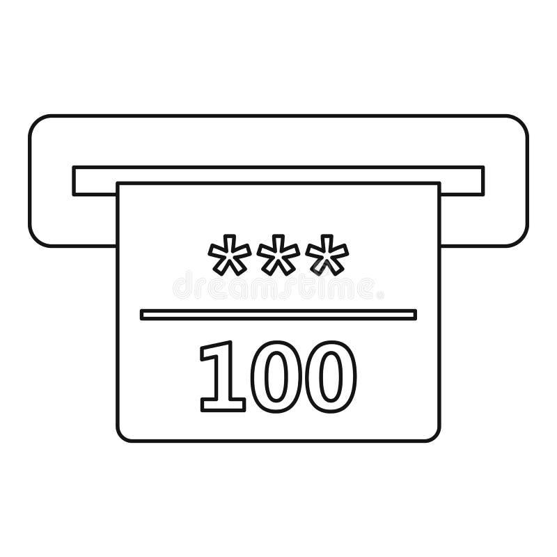 Gewinnender Scheck in der Kasinoikone, Entwurfsart stock abbildung