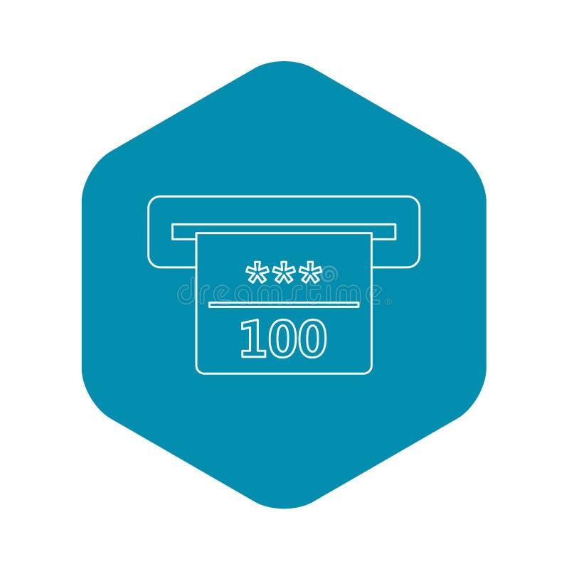 Gewinnender Scheck in der Kasinoikone, Entwurfsart lizenzfreie abbildung