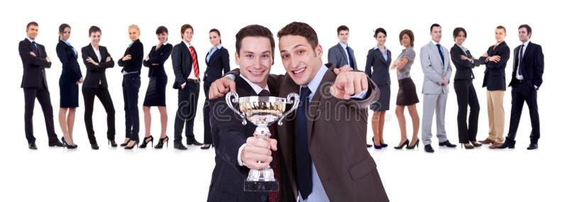 Gewinnendes businessteam stockfotos