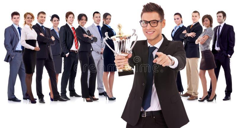 Gewinnendes Geschäftsteam lizenzfreie stockfotografie