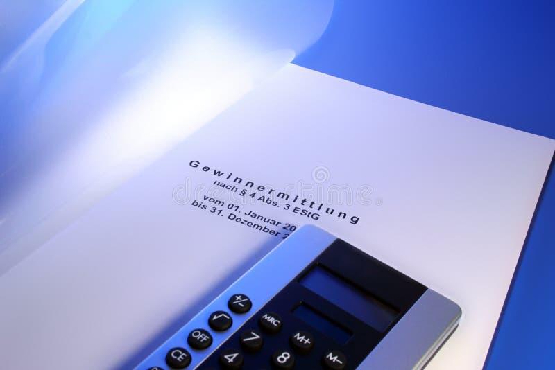 gewinnermittlung einkommensteuer стоковая фотография