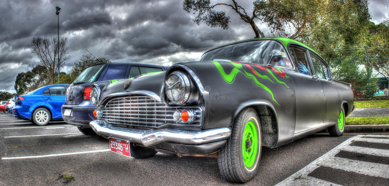 Gewohnheit gemalte sechziger Jahre britisches errichtetes Vauxhall stockbild