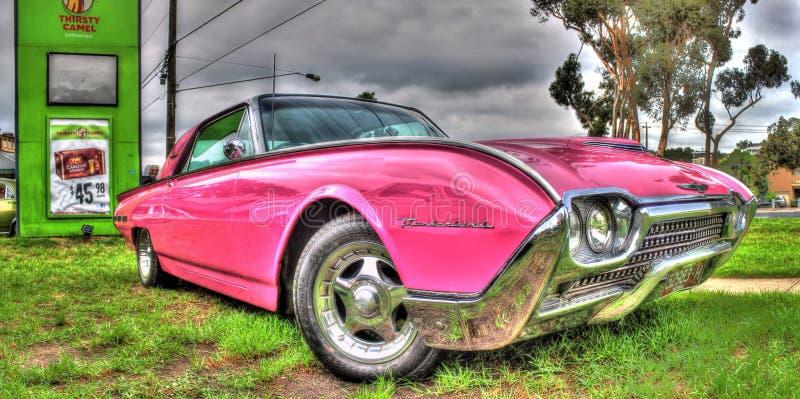 Gewohnheit gemalter Amerikaner Ford Thunderbird stockfoto