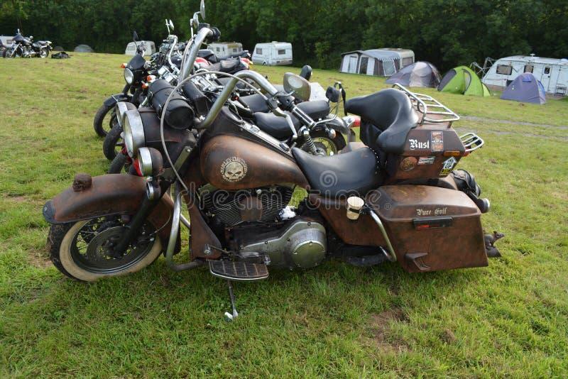 Gewohnheit gemalter Harley Davidson stockbilder