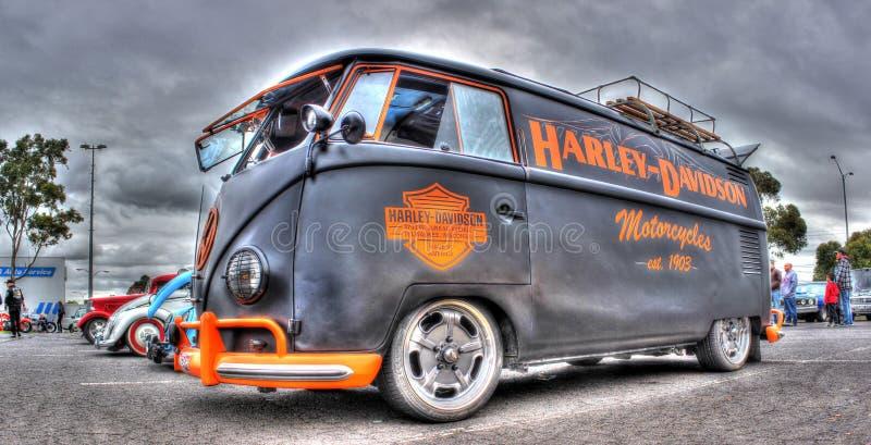 Gewohnheit gemalter Harley Davidson Kombi stockbild