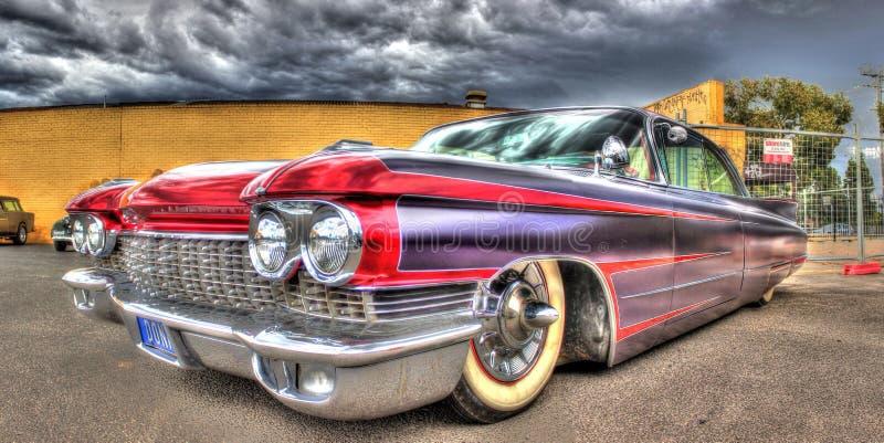 Gewohnheit gemalter sechziger Jahre Amerikaner Cadillac lizenzfreie stockbilder
