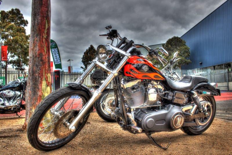 Gewohnheit gemaltes amerikanisches errichtetes Harley Davidson-Motorrad lizenzfreies stockfoto