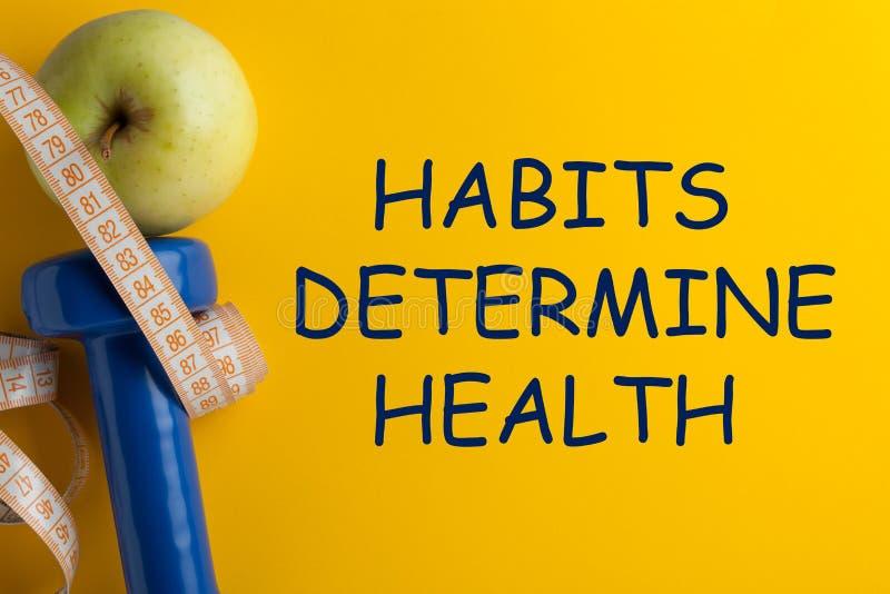 Gewohnheiten bestimmen Gesundheit lizenzfreies stockfoto
