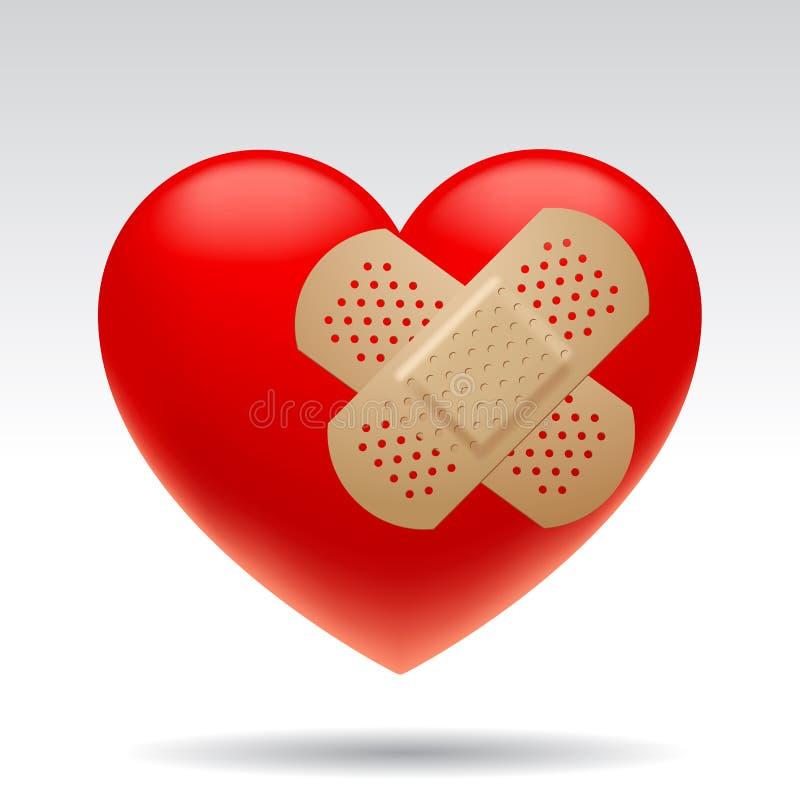 Gewond hart royalty-vrije illustratie