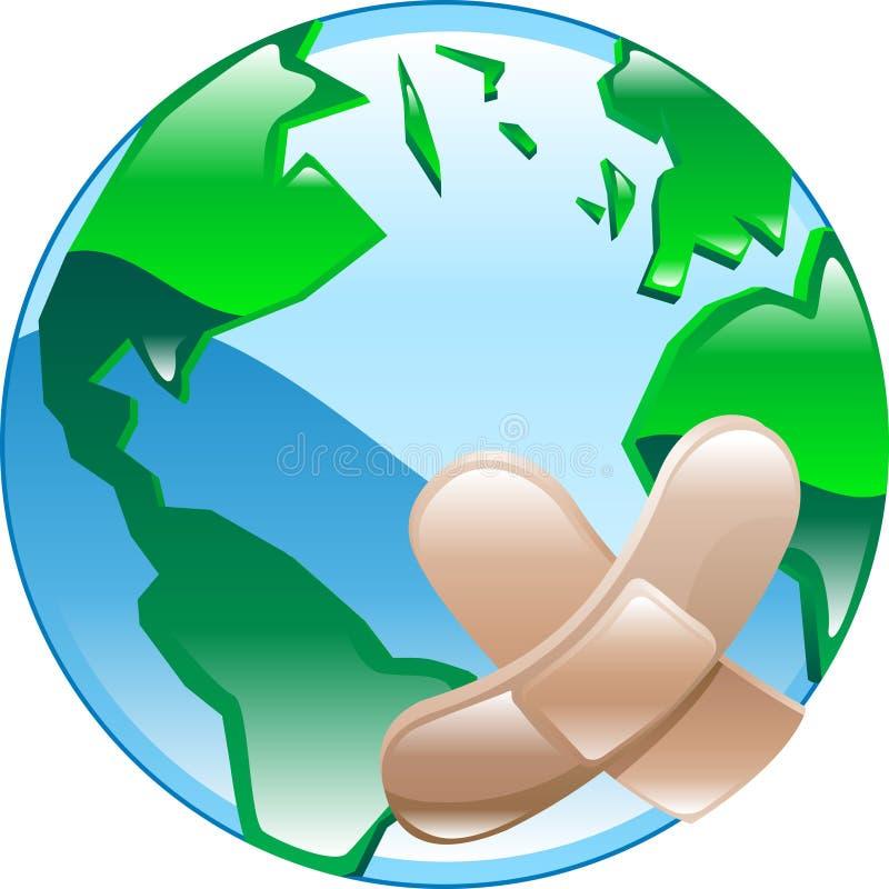Gewond wereldconcept vector illustratie