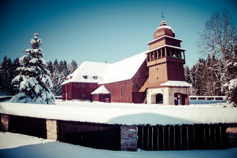 Gewrichts houten kerk, Slowakije royalty-vrije stock foto