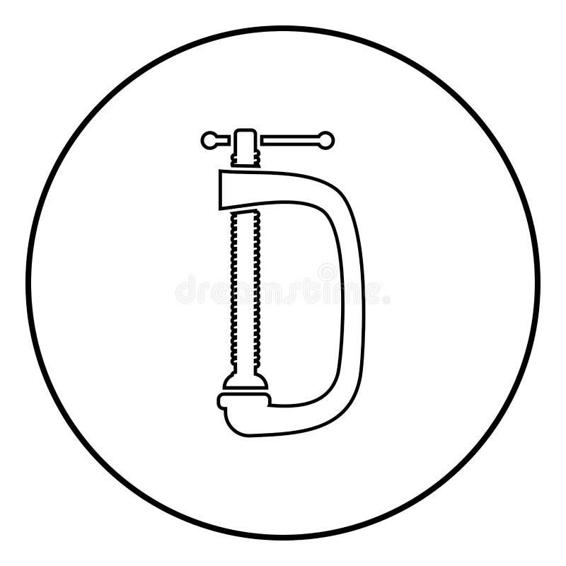 Gewrongen van de schroef-klem vector de illustratie eenvoudig beeld pictogram zwart kleur vector illustratie