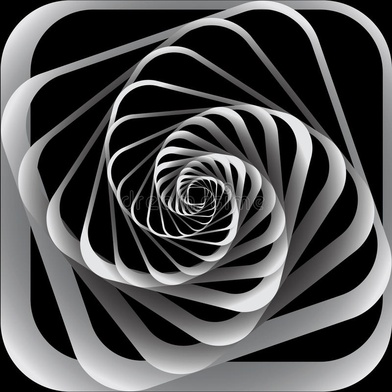 Gewundene Bewegung. Abstrakter Hintergrund. lizenzfreie abbildung