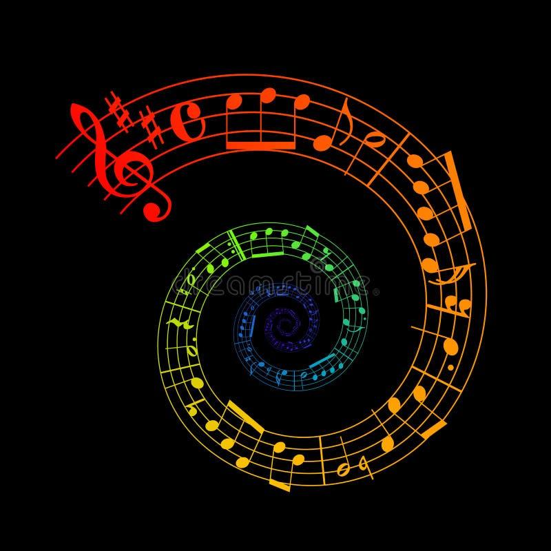 Gewundene Blattmusik vektor abbildung