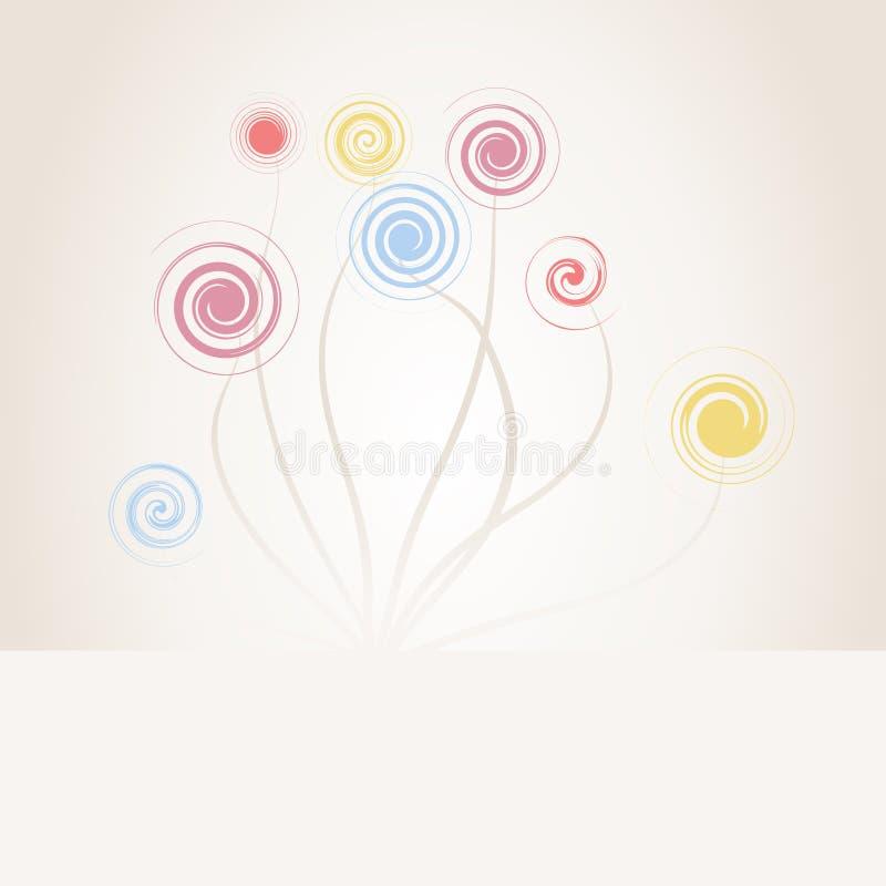 Gewundene Blume vektor abbildung