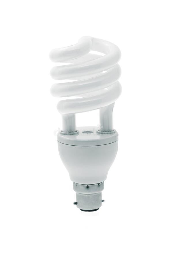 Gewundene energiesparende Glühlampe lizenzfreie stockfotos