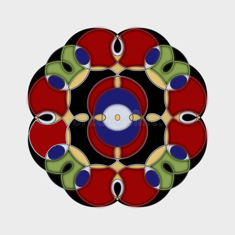 Gewundene Mandala stock abbildung