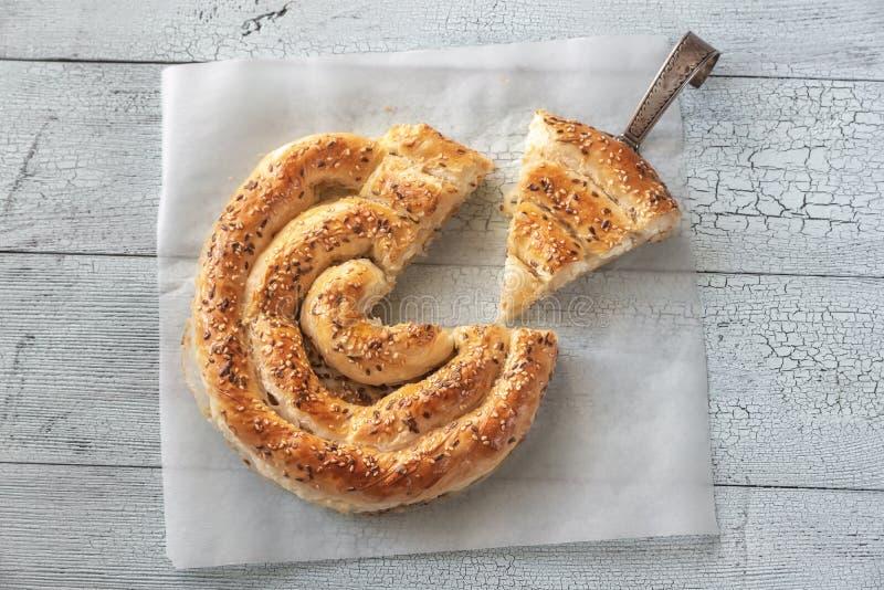 Gewundene phyllo Torte mit Feta lizenzfreies stockfoto