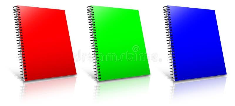 Gewundene RGB-Mappe lizenzfreie abbildung