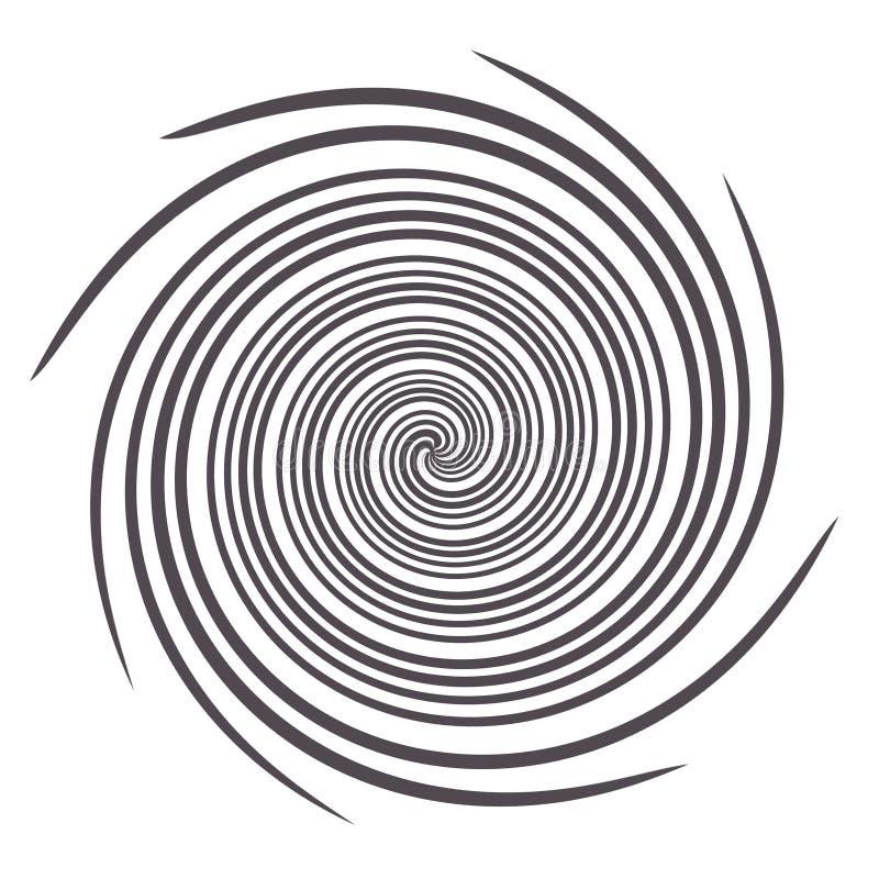 Gewundene Schwarzweiss-Grafik lizenzfreie abbildung