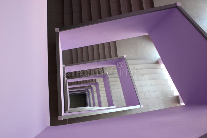 Gewundene Treppen stockfotos