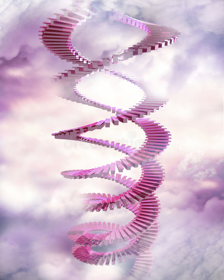 Gewundene Treppen stock abbildung