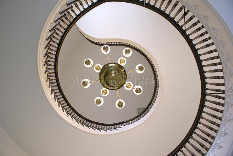 Gewundene Treppen am Staat Alabama-Kapitol lizenzfreies stockfoto