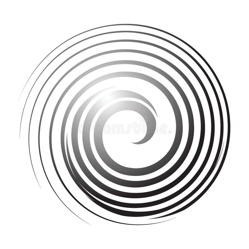 Gewundene Zeile Kreisgestaltungselement stock abbildung
