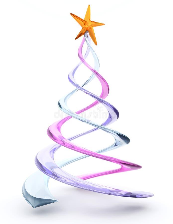 Gewundener Glasweihnachtsbaum stock abbildung