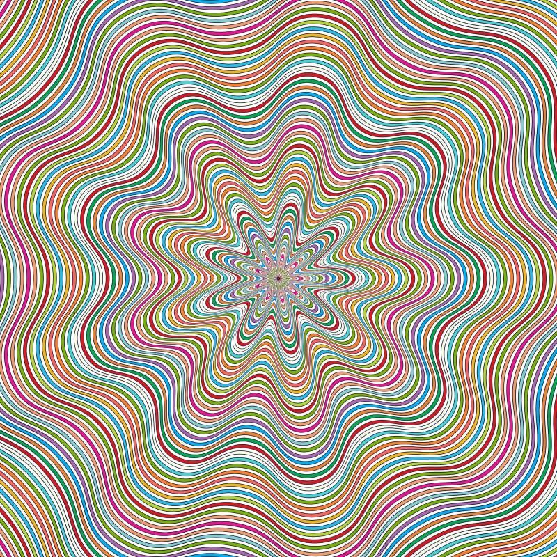 Gewundener Hintergrund der OPkunst vektor abbildung