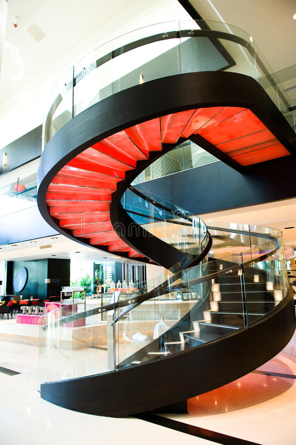Gewundener Treppekasten lizenzfreies stockbild