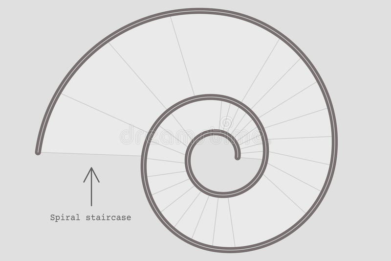 Gewundener Treppenvektor lizenzfreies stockbild