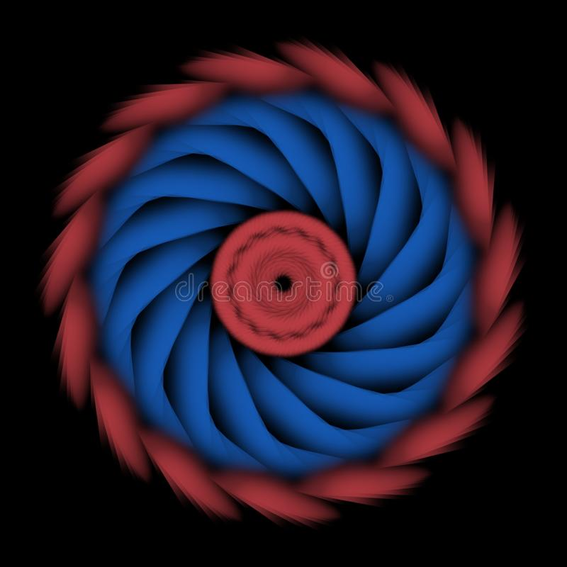 Gewundenes blaues Rot der Zusammenfassung elegan für Logo oder Symbol oder usw. stock abbildung