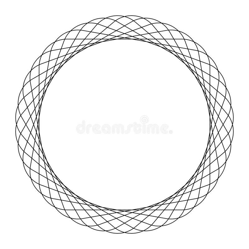 Gewundenes Element des Rundschreibens Abstraktes geometrisches Kreiselement vektor abbildung