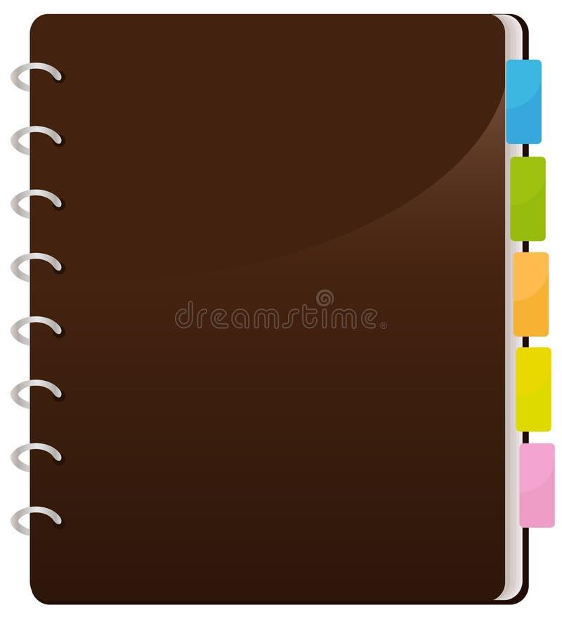 Gewundenes Notizbuch lizenzfreie abbildung