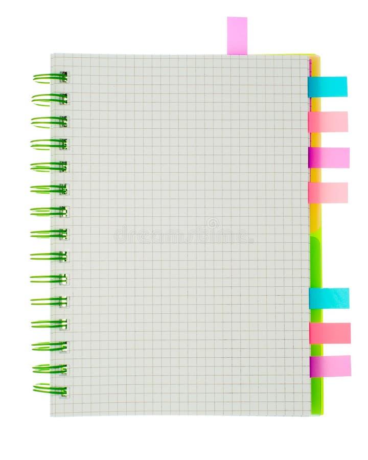 Gewundenes Notizbuch lokalisiert lizenzfreies stockfoto