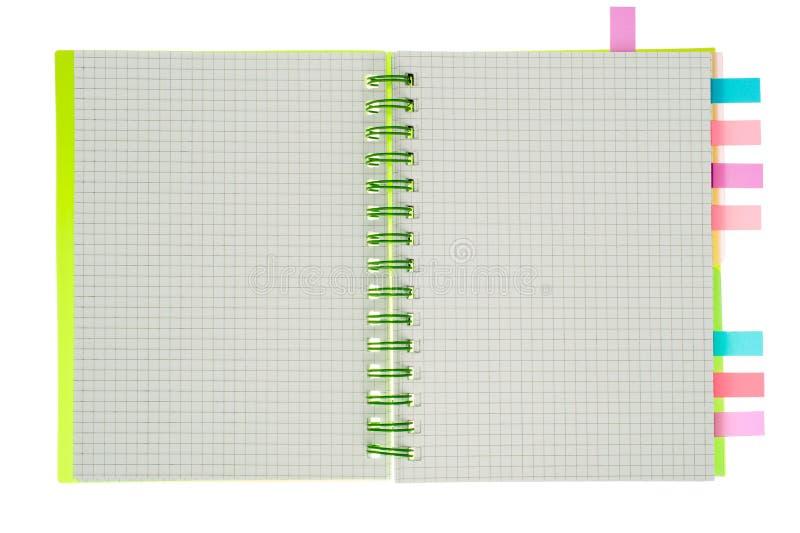 Gewundenes Notizbuch lokalisiert lizenzfreie stockbilder