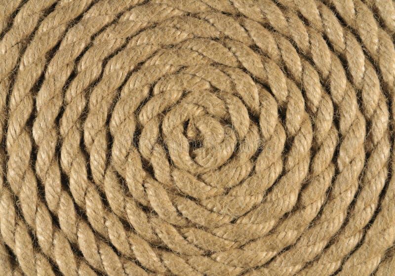 Gewundenes Seil stockbild