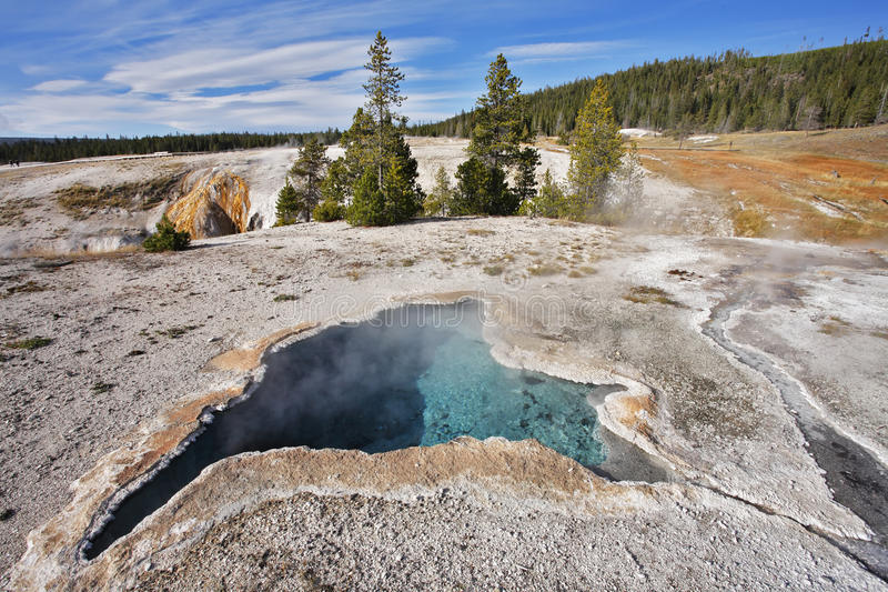 The geyser with azure water