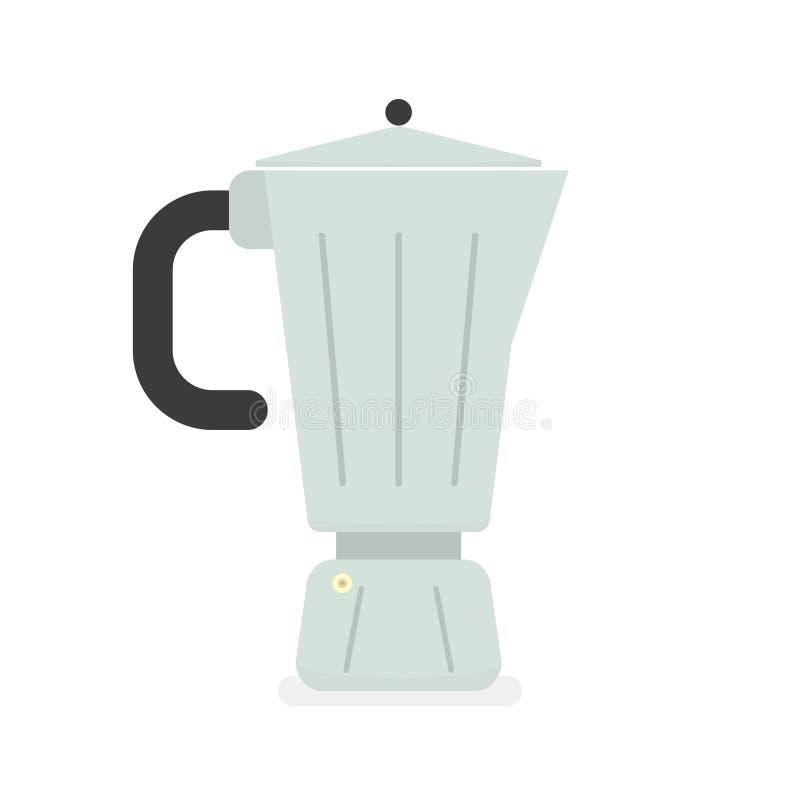 Geyser coffee maker. Isolated Vector Illustration royalty free illustration