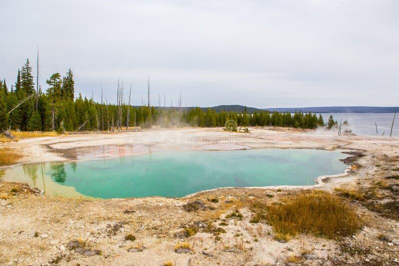 Geyser coloré dans Yellowstone NationalPark photos stock