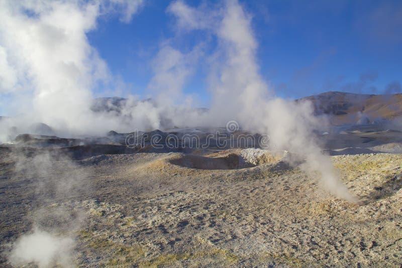 Geyser dans Uyuni photographie stock libre de droits