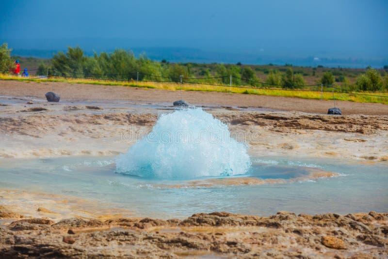 Geyser de l'Islande photos libres de droits