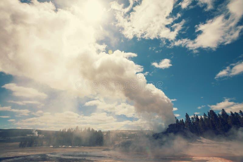 Geyser del castello immagine stock libera da diritti