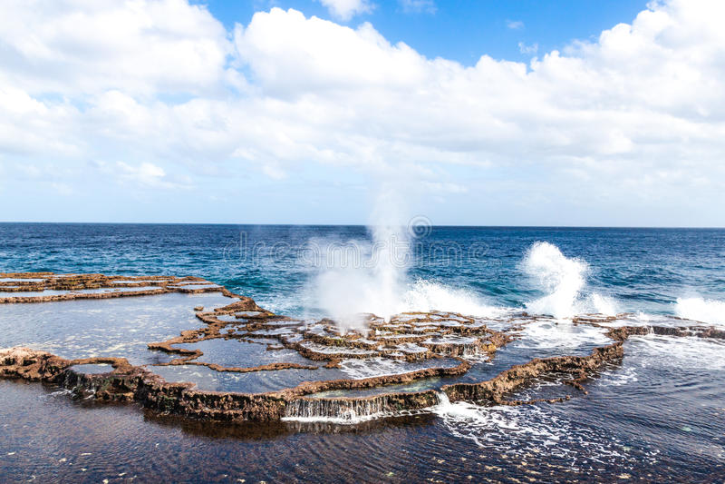 Geyser del mare immagine stock libera da diritti