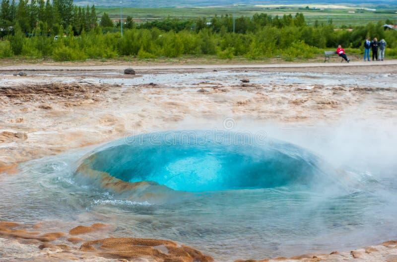 Geyser di Strokkur, Islanda immagini stock libere da diritti