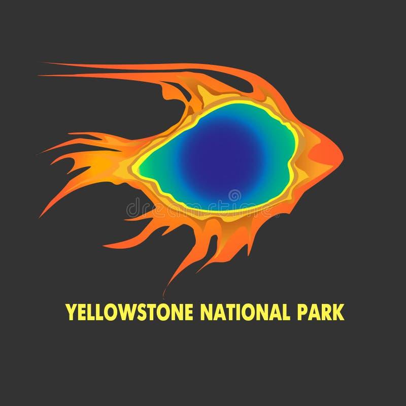 Geyser em Yellowstone ilustração do vetor
