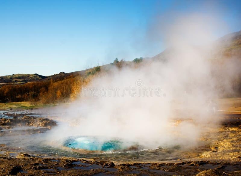Geyser eruption, Iceland
