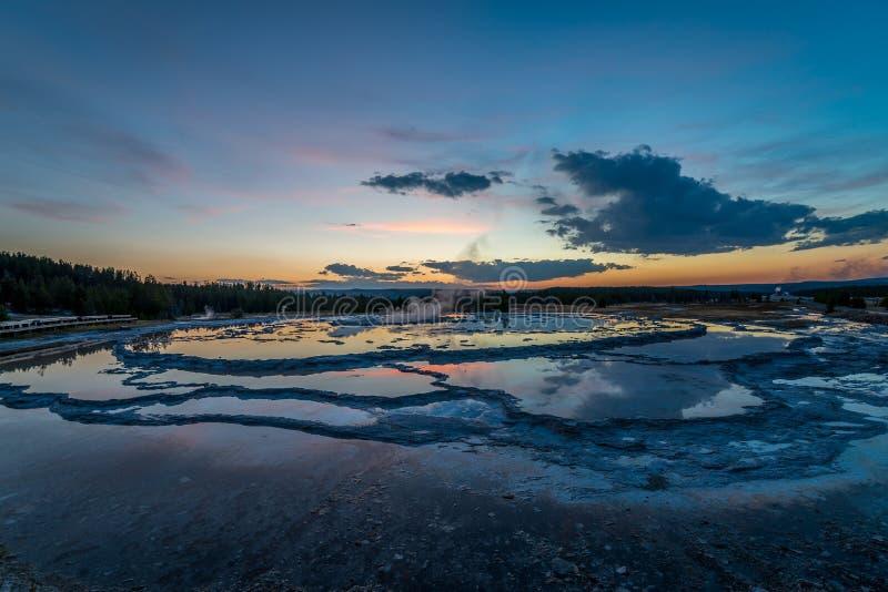 Geyser grande da fonte fotografia de stock